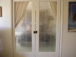 sliding doors to living room