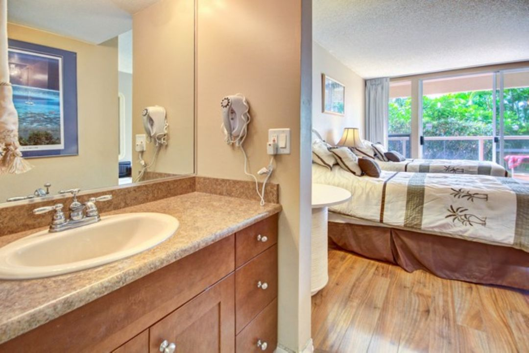 Remodeled bathroom in guest