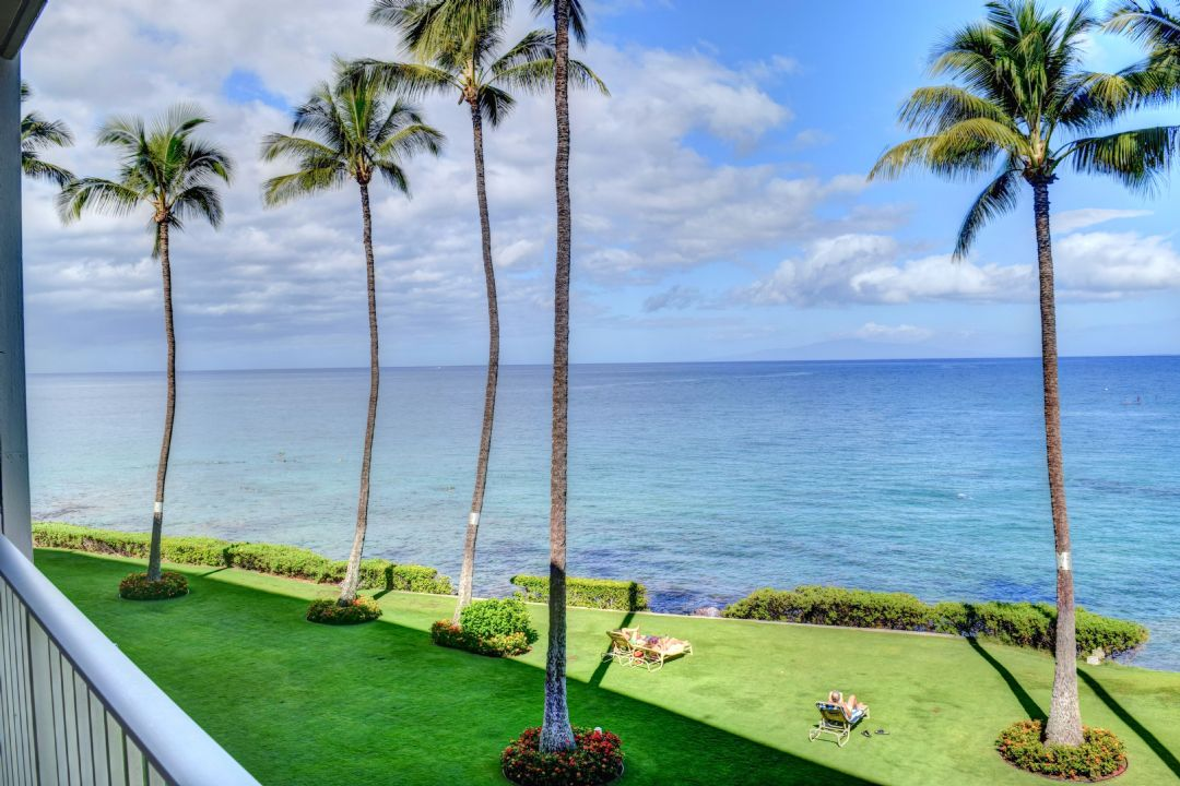 Oceanfront view from your private lanai