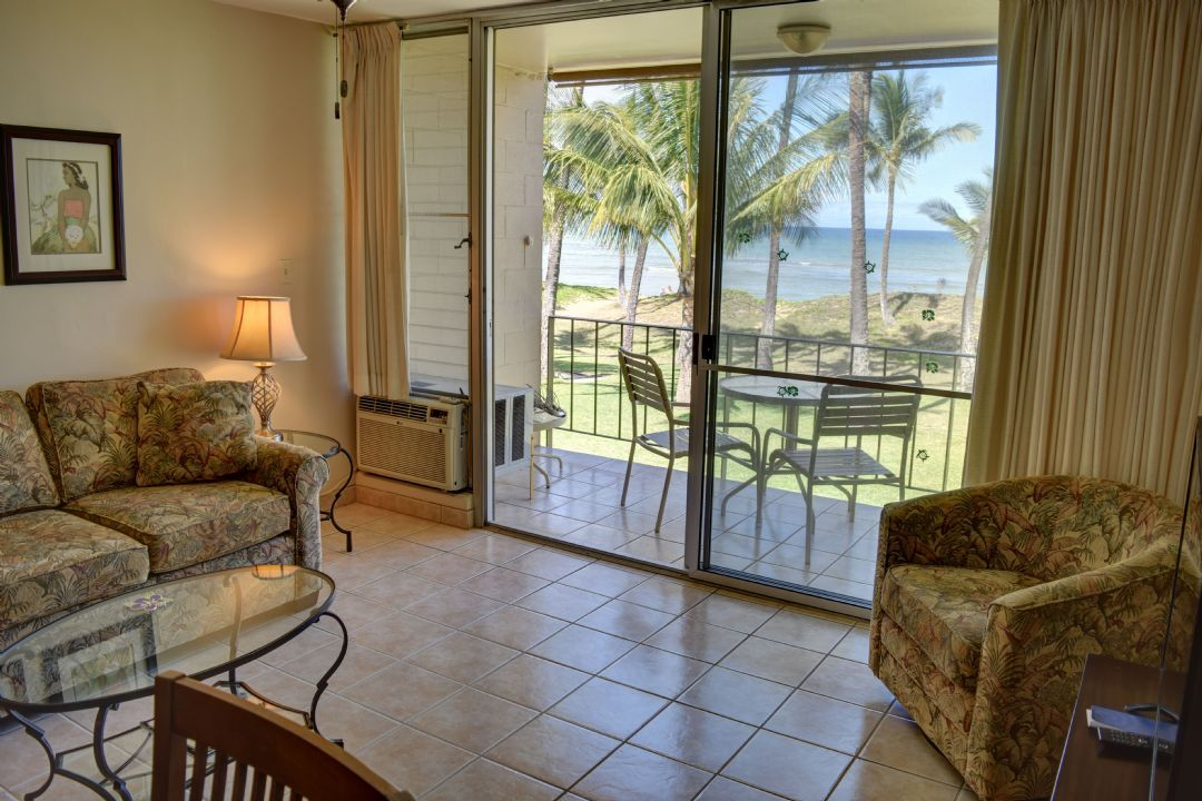Relax in your living room with oceanfront views